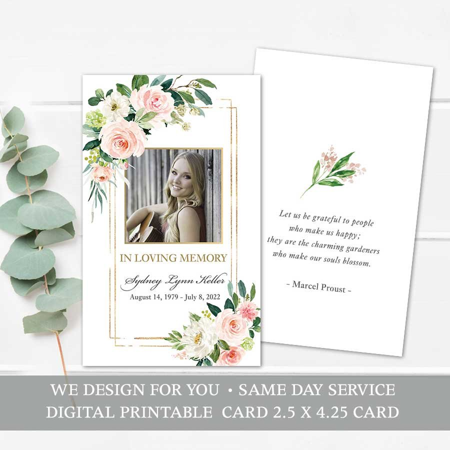 Mass Card Printable Template For Funerals Card Template Printable Cards Printed Cards