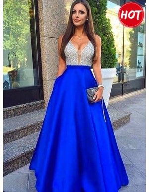 86454d75d2f A-Line Short Sleeves Champagne Prom Dress with Lace Belt Pockets in ...