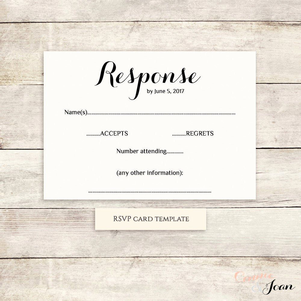 Wedding Rsvp Postcards Template Lovely Printable Wedding Rsvp Template Rsvp Card 2020 Wedding response card template free
