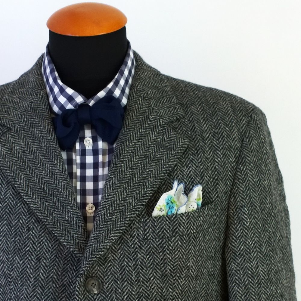Men's Carl Gross Harris #Tweed #Blazer size 40S Wool Sport