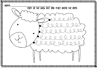 spring lamb handwriting fluency worksheets lambs frogs and spring. Black Bedroom Furniture Sets. Home Design Ideas