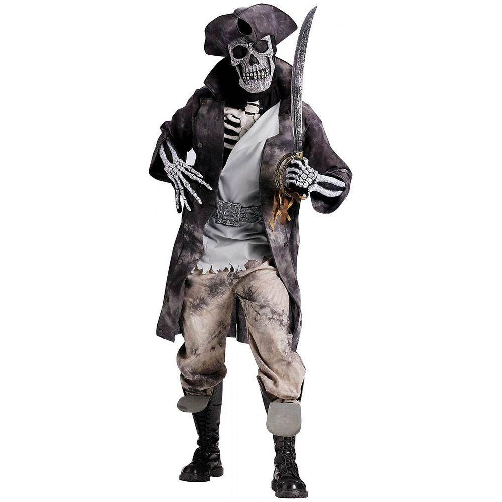 Halloween Ghost Pirate Assassin Ship Captain Horror Mens Adult ...