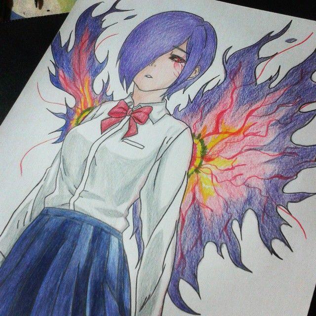 Tokyoghoul Desenho Art Drawing Touka Anime Animegirl Anime