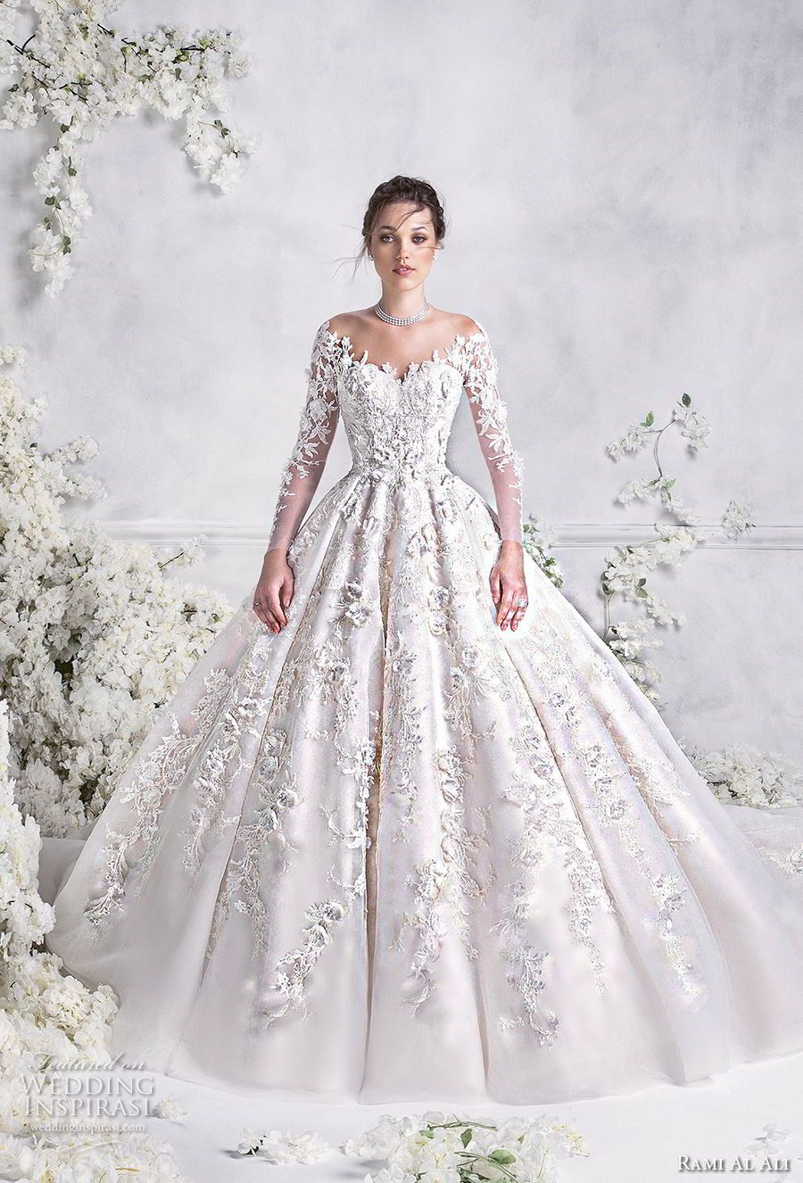 Rami al ali wedding dresses ball gowns neckline and wedding