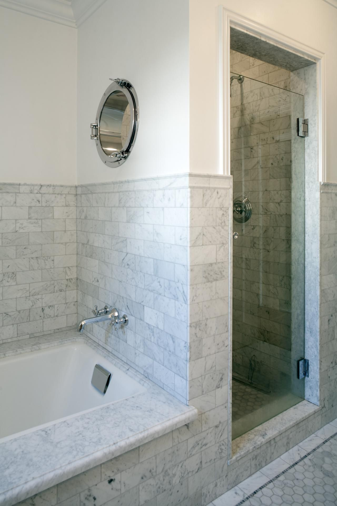 Charmant The Bathroom Was Reworked To Include A Separate Walk In Shower And Tub. A