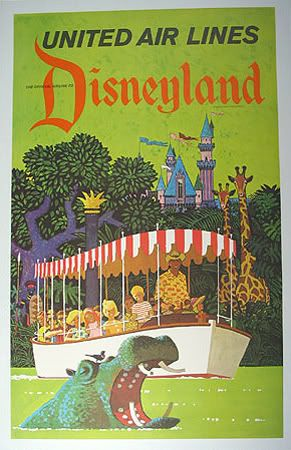 See Disneyland from the Air! Advertising Vintage Poster 18x24