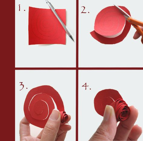A much simpler way to get a paper flower. cutting the swirl wavy ...