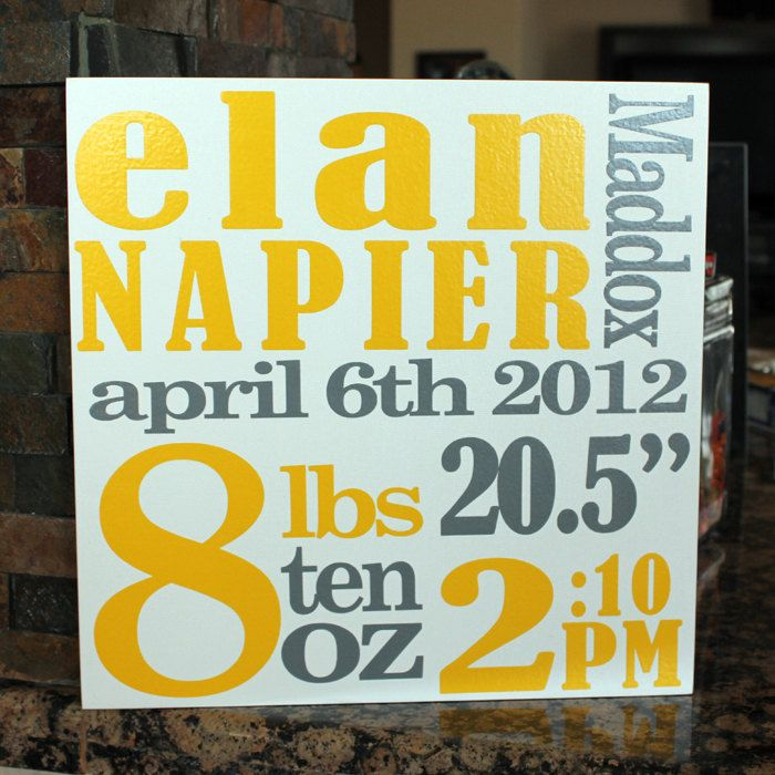 Gender neutral baby gift name art baby nursery decor baby birth announcement plaque personalized baby name sign 3700 via etsy negle Choice Image