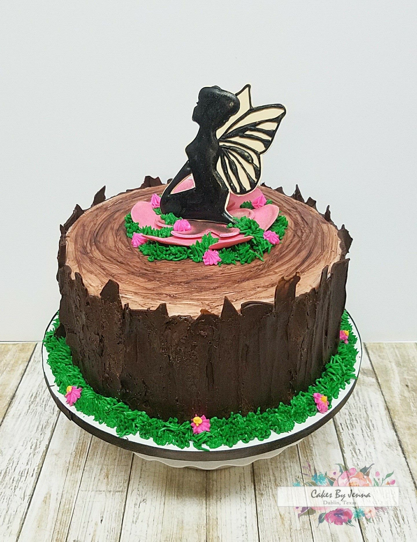 Fairy Birthday Cake Chocolate Tree Bark Cake By Cakes By Jenna