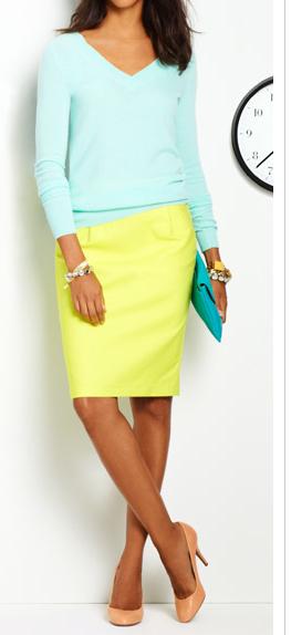 Bright colors - work attire