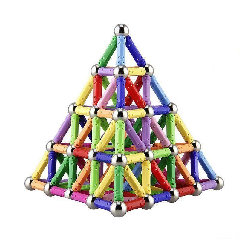 Veatree 150 Pcs Magnetic Building Sticks Blocks Toys Magnet Educational Toys