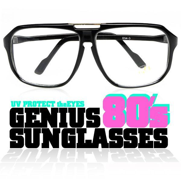 【GENIUS ジーニアス】80'Sスタイル サングラス (紫外線カットレンズ) 【あす楽対応】腕時計とおもしろ雑貨のシンシア【楽天市場】