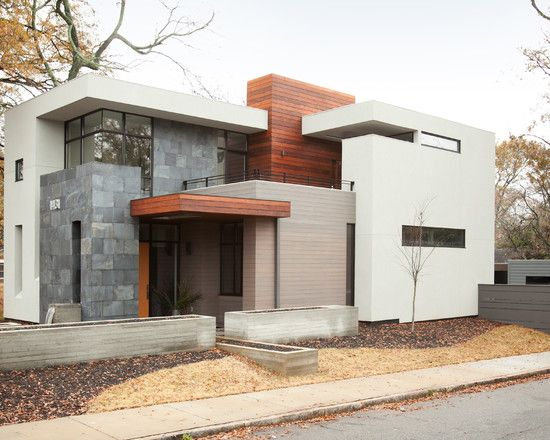 Modern House Exterior Materials: Modern Spaces Modern Prairie Style Home Design, Pictures