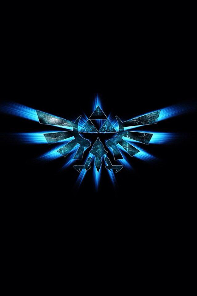 The Legend Of Zelda Blue Triforce Hybrid Bird Awesome Zelda Logo Zelda Hd Legend Of Zelda
