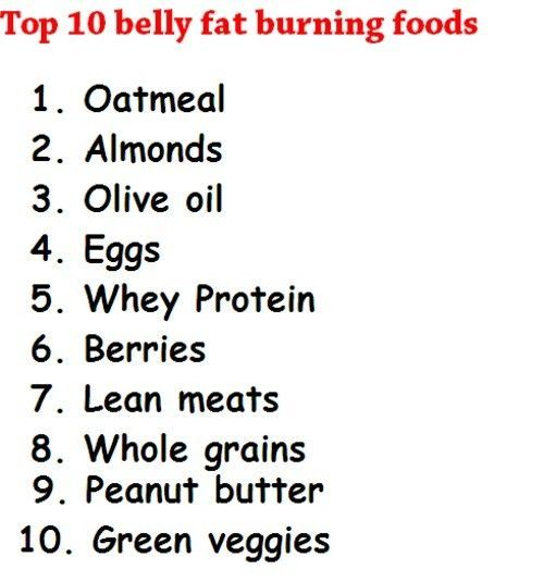 Belly fat Burning foods - so everything i rarely eat. awesome