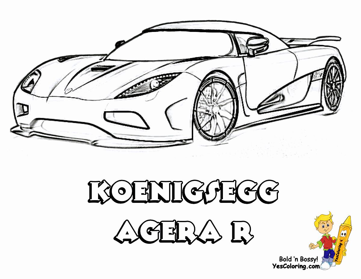 Koenigsegg Agera R Coloring Pages