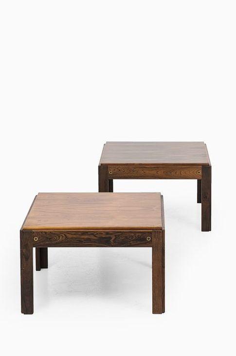 Illum Wikkelsø; Rosewood 'Plexus' Side Tables for CFC Silkeborg, 1960s. Via Studio Schalling.