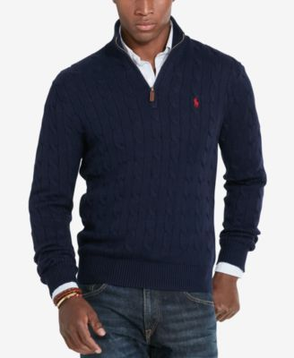 Polo Ralph Lauren Men\u0027s Cable-Knit Mock Neck Sweater $98.50 Perfect for  layering, this