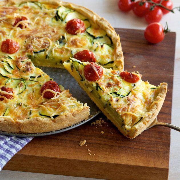 Zucchini-Tomaten-Quiche #zucchinipastarecipes