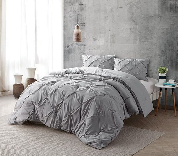 Alloy Pin Tuck Twin XL Comforter Twin XL Bedding Dorm Bedding