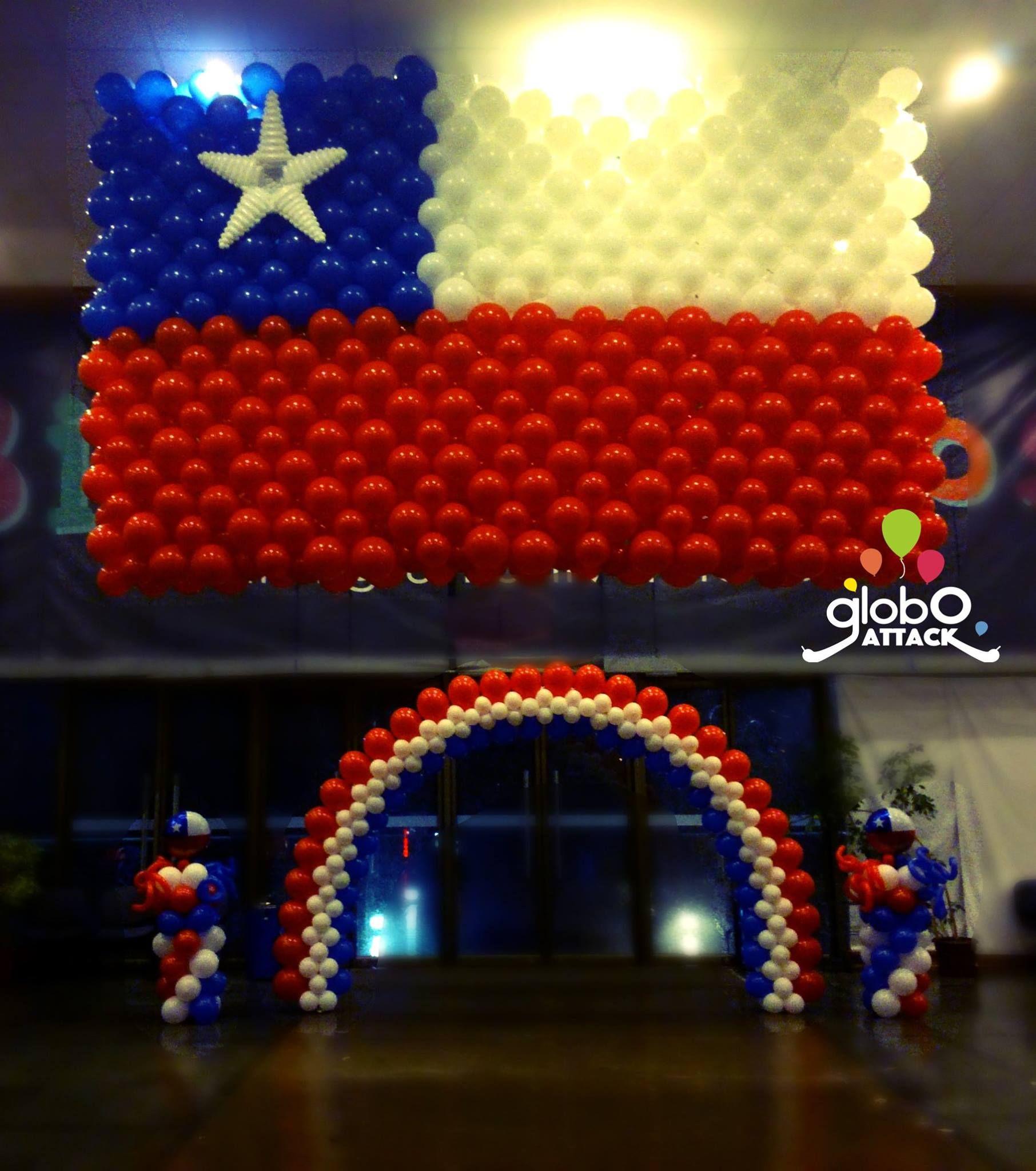 Bandera chilena fiestas patrias decoracion fiestas - Ideas decoracion fiestas ...