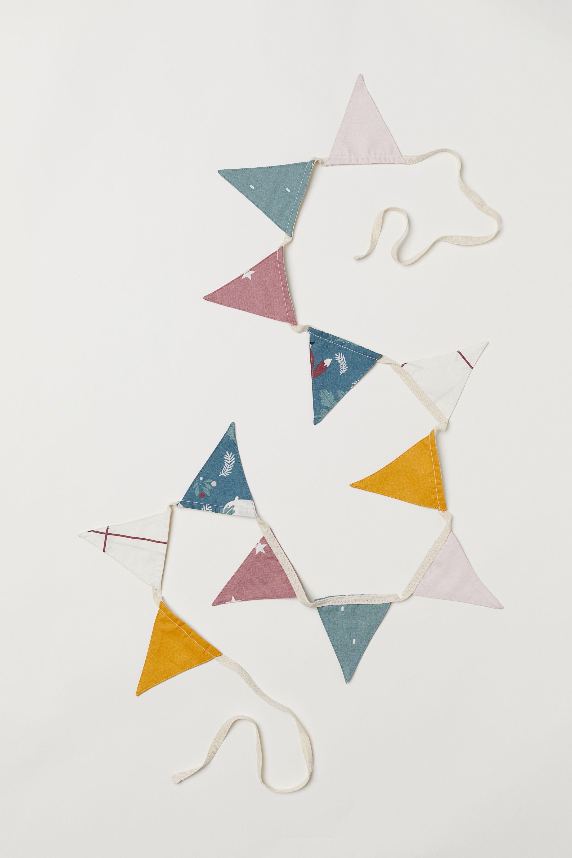 Set Sail Birch Organic Cotton Triangles Flags Pennants