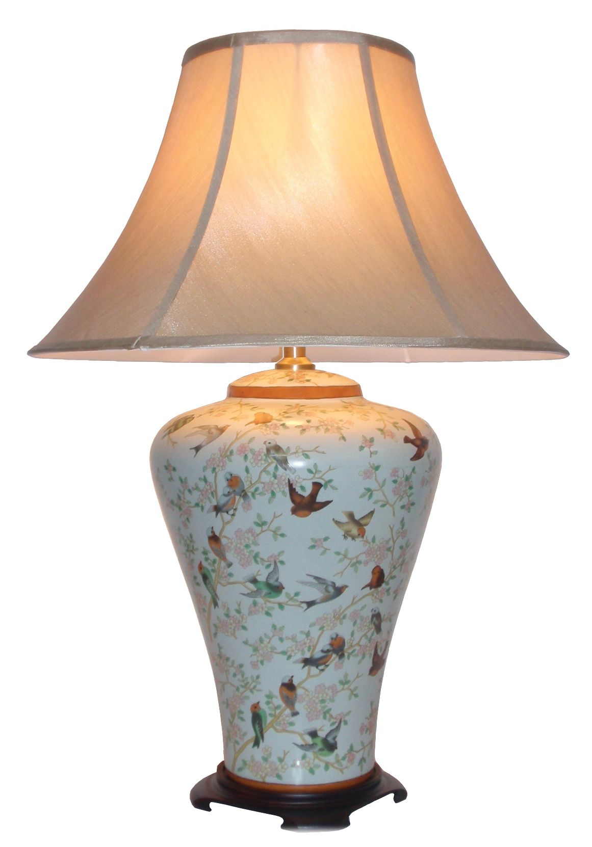 Alashankou chinese porcelain table lamp in a very pale blue alashankou chinese porcelain table lamp in a very pale blue background from amiska mozeypictures Image collections