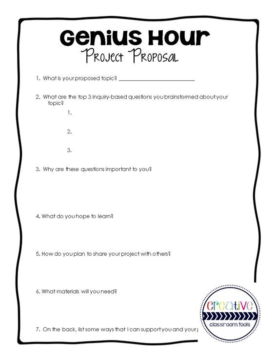 Free Download Genius Hour Project Proposal School Pinterest
