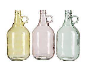 Set de 3 jarrones de cristal – amarillo, verde y azul