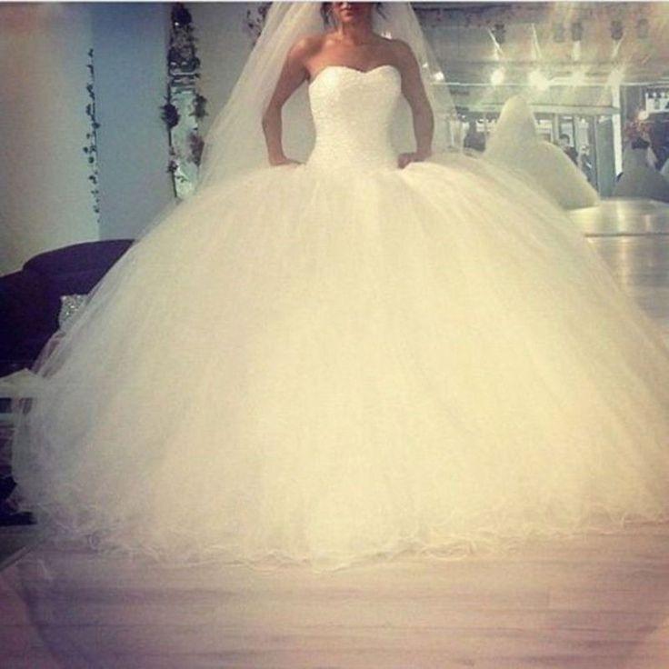 Neu Weiß Brautkleid Hochzeitskleid Abendkleid Ballkleid Gr 34 36 38 ...