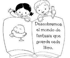 Resultado De Imagen De Dibujo Dia Del Libro Books Coloring Pages Kids