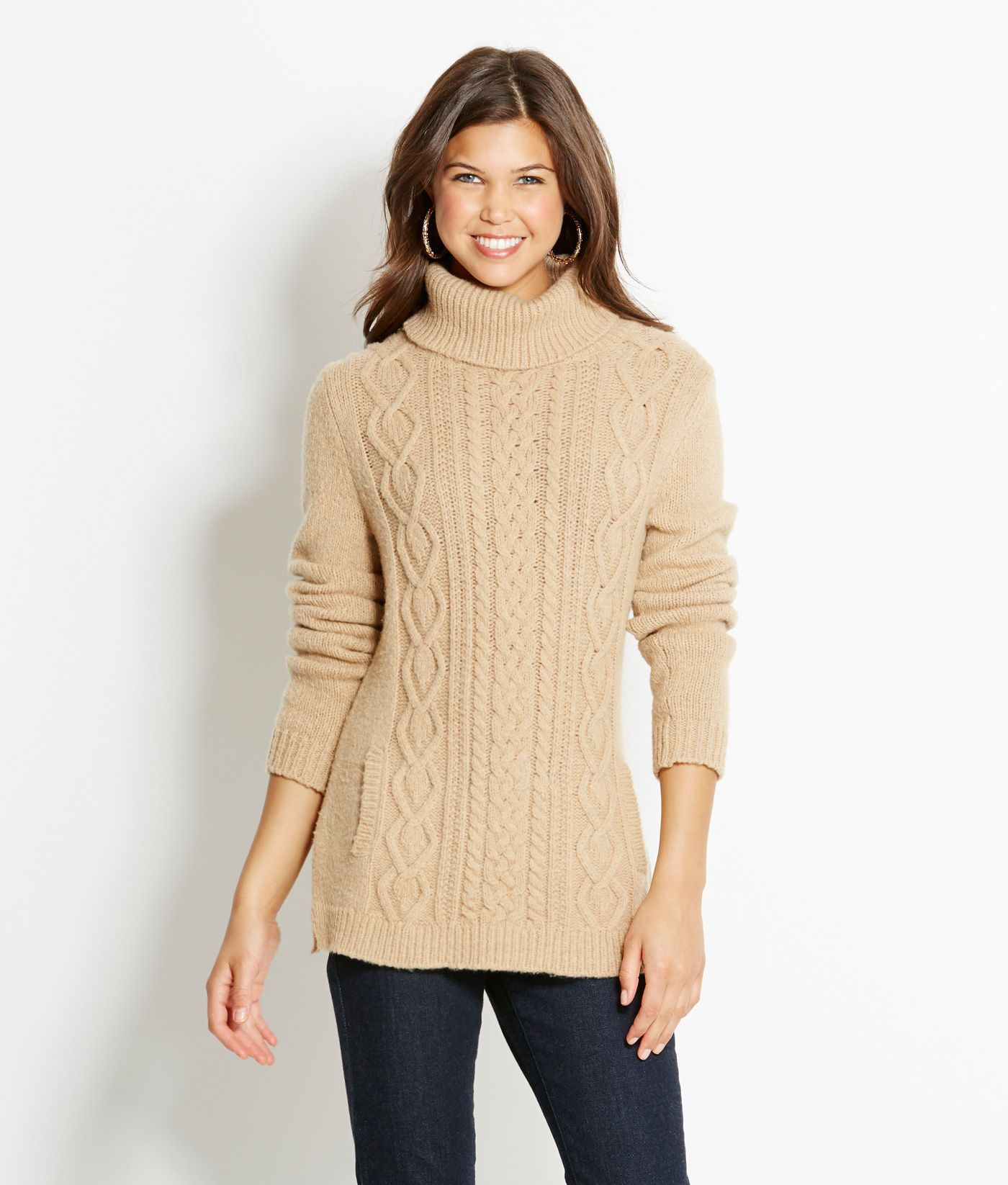 Shop Sweaters: Cable Turtleneck Sweater for Women | Vineyard Vines ...