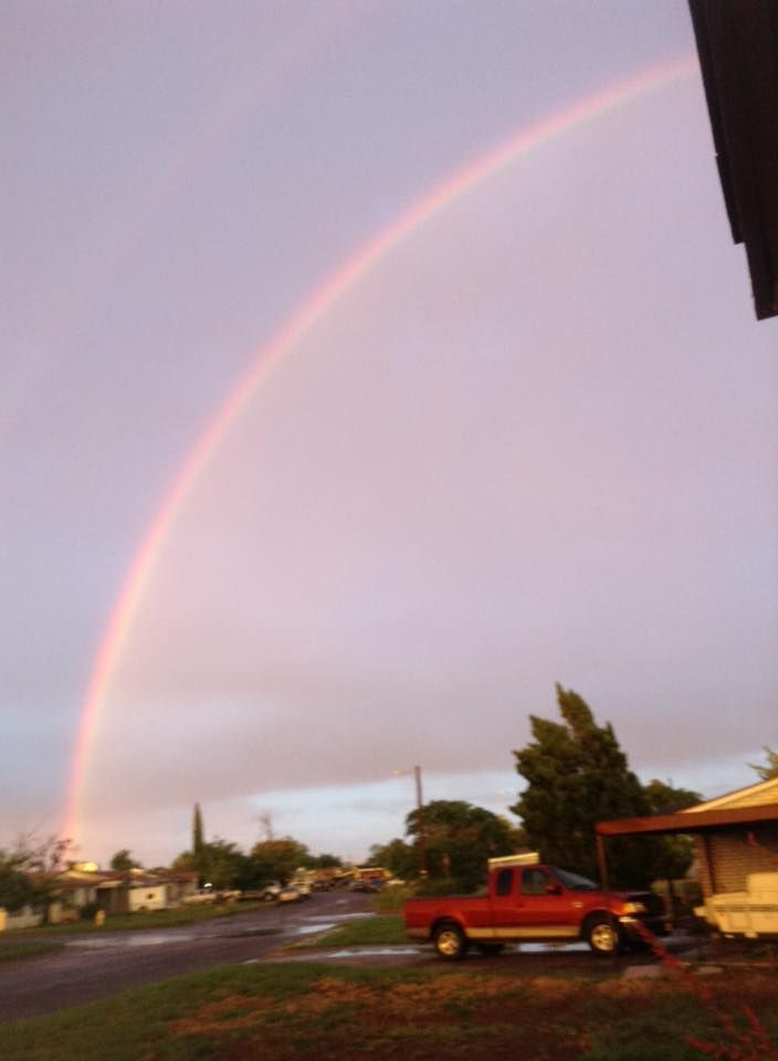 Rainbow Over Midland Texas. Thank-you Helen!