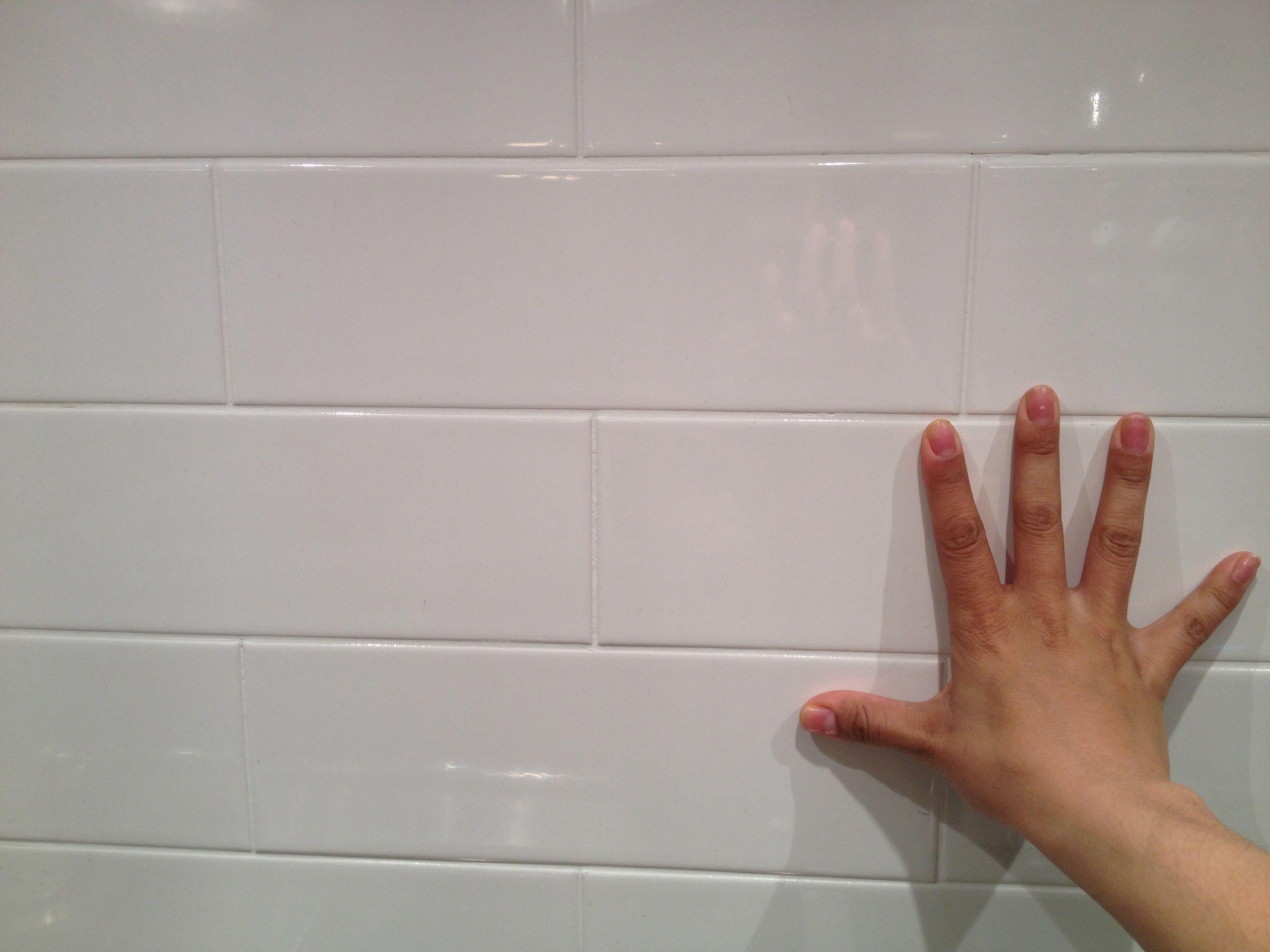 Oversize Subway Tile For Boys Bath