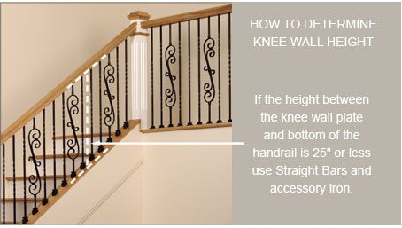 Baluster height for knee walls | Basement stairs | Porch