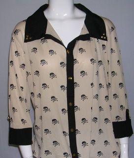 Beige and Black Blouse-Size 2x by julie's closet-100% polyester-plus size-$7.70