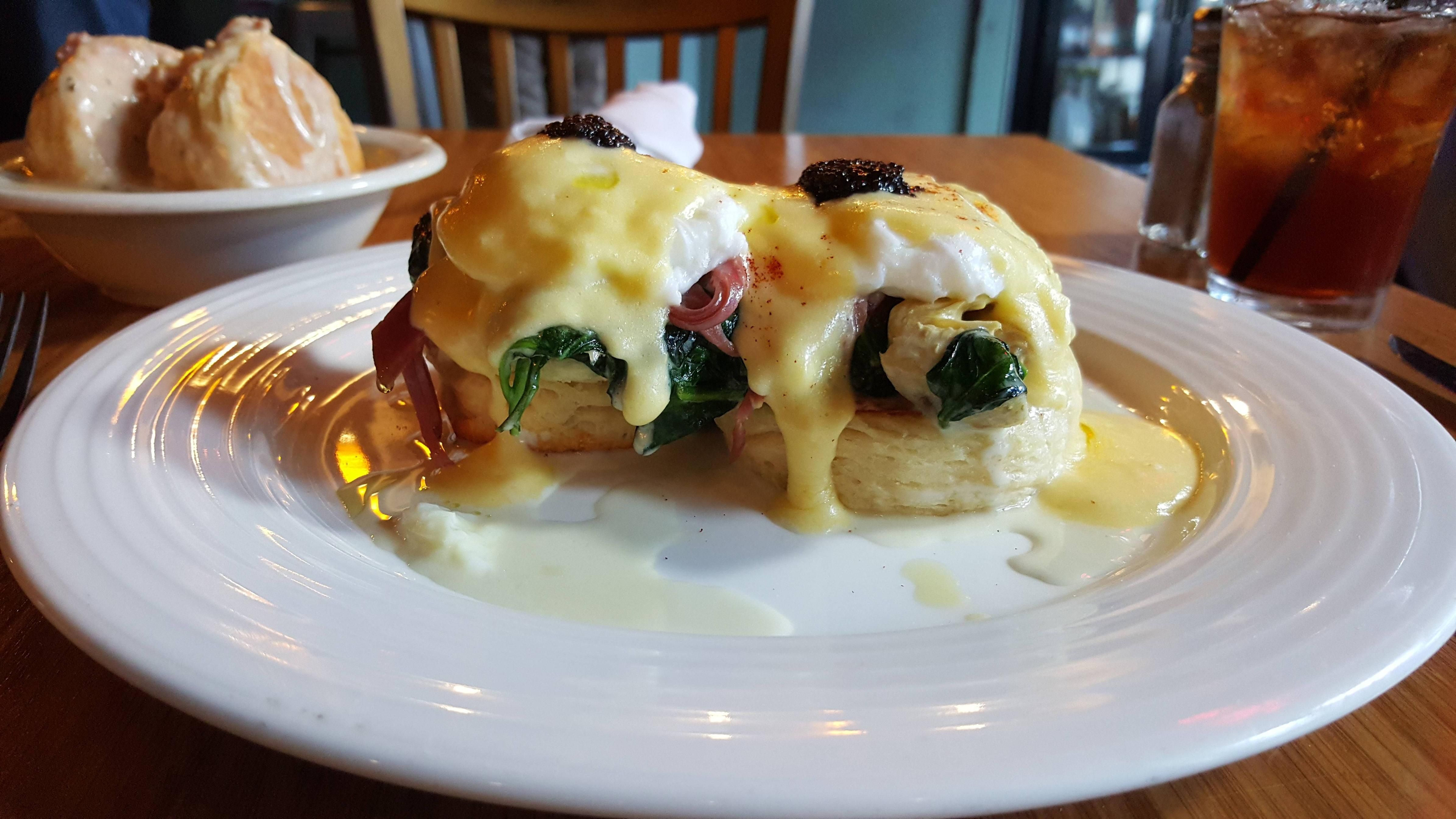Eggs Woodhouse From Archer Prosciutto Creamed Spinach