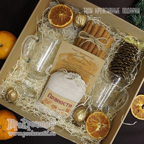 """Подарочный набор для приготовления глинтвейна """"Классик"""" Подарочный набор для приготовления глинтвейна с бокалами в большой коробке - красивый и уместный подарок к Новому году!"""