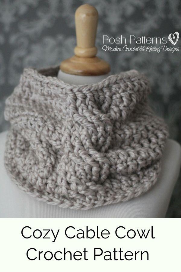 CROCHET PATTERN - Crochet Cowl Pattern - Infinity Scarf Crochet ...