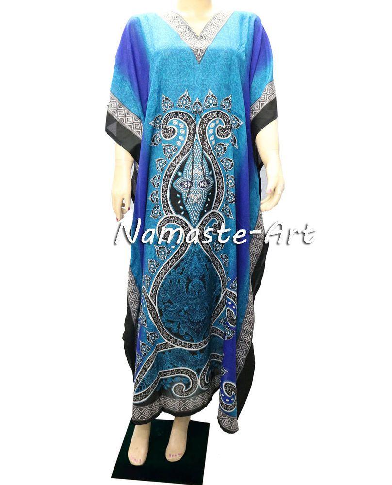 ] Indian Free Size Wear Any Wear Beach Cover Up Season Boho Casual Kaftan Dress  #Unbranded #KaftaanBeachDressMaxi #Casual