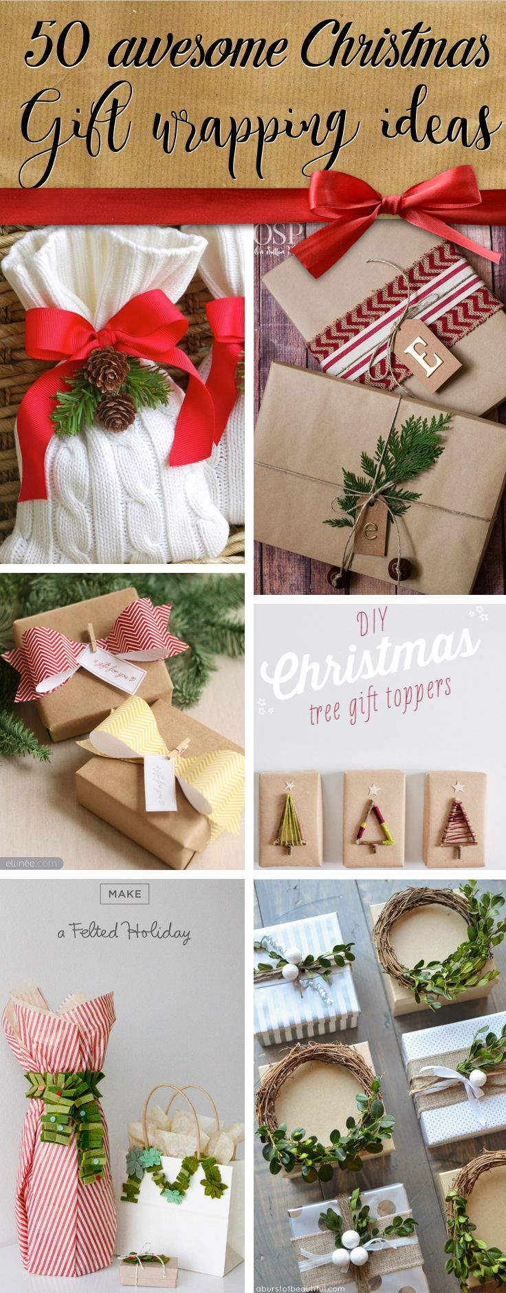 50 awesome christmas gift wrapping ideas you can make yourself 50 awesome christmas gift wrapping ideas you can make yourself solutioingenieria Gallery