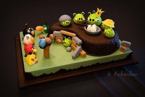 Pastel de Angry Birds