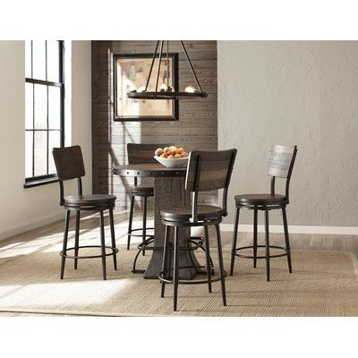 Gracie Oaks Cathie 5 Piece Round Counter Height Dining Set