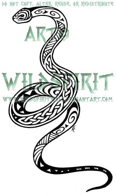 Maori Celtic Snake Tattoo By Wildspiritwolf On Deviantart Like The
