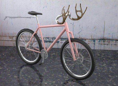 Tree Made with Antlers | Antlers bike | Recyclart