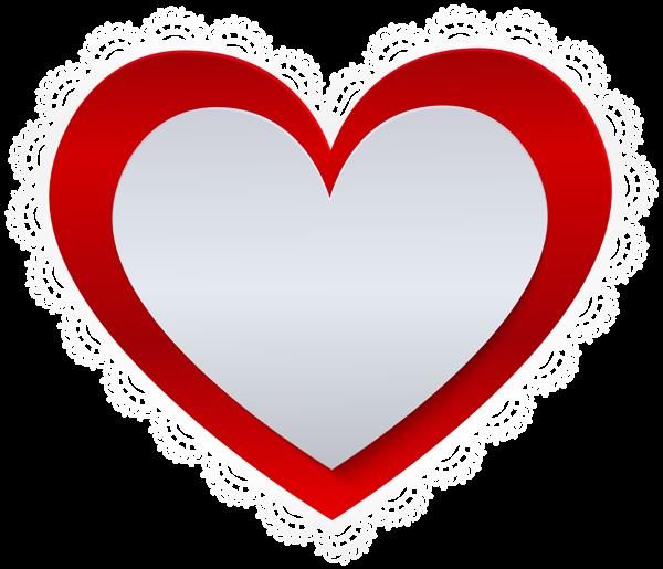 Heart With Lace Border Png Clip Art Clip Art Art Lace Border