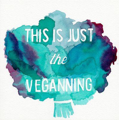 VEGAN PUN//THIS IS JUST THE VEGANNING Art Print #veganquotes