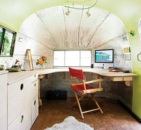 7f8b2162b2 vintage trailer as a mobile office  yes please!!