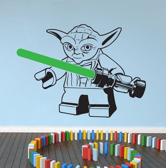 This Is A Large Size Lego Star Wars YODA Wall Decal Measuring Approximately  432mm High X Part 64