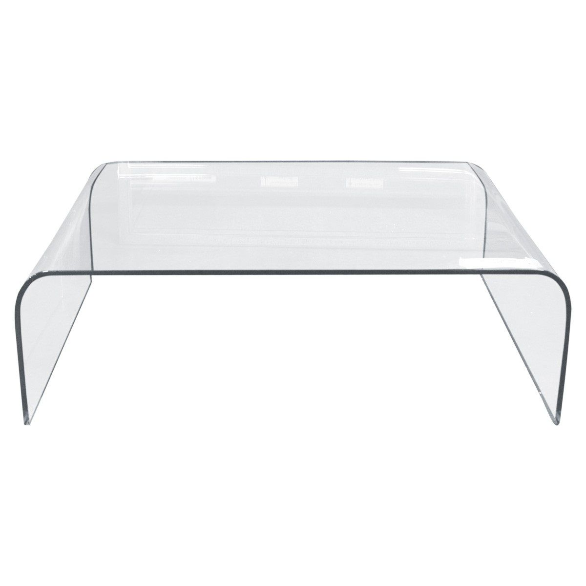 bent glass waterfall coffee table | glass table | pinterest